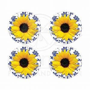 sunflower royal blue damask wedding stickers or envelope seals With kitchen colors with white cabinets with wedding invitation seal stickers