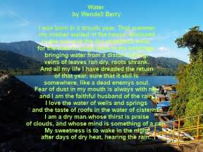 Poem About Water Pollution