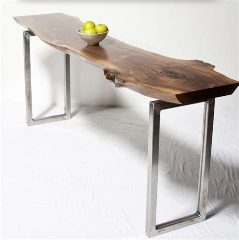 designer furniture seattle console tables live edge wood console tables and