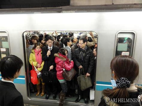 tokyo metro evening rush hour great evening  ebisu