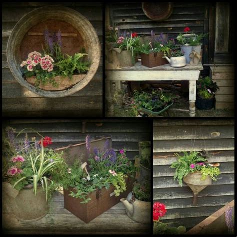Best Images About Rustic Planters Pinterest Summer