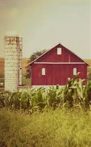 Barn with Silo Red White