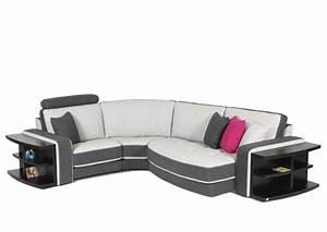 acheter votre canape d39angle contemporain en cuir blanc With canape cuir blanc contemporain