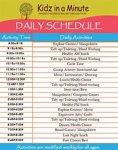 daycare schedule templates With child care daily routine template