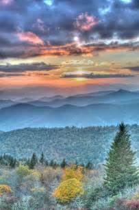 Parkway Blue Ridge Mountains Sunset