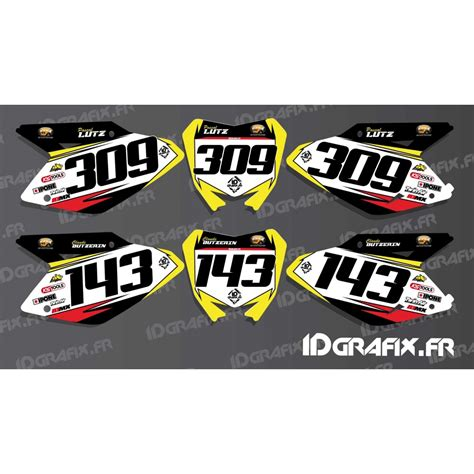 kit deco moto shop kit deco number plate for suzuki rm rmz idgrafix
