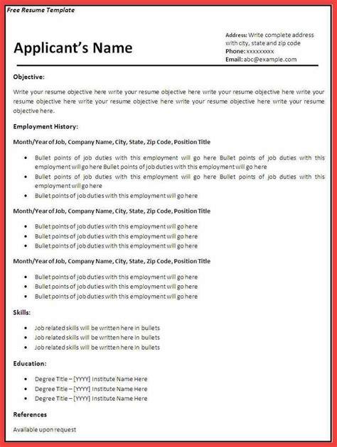 resume sle pdf memo exle