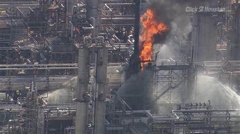 massive fire extinguished  exxonmobil plant  baytown