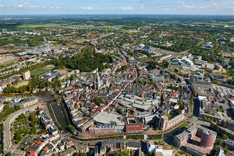 aerial view Historical city center of Breda, North Brabant ...