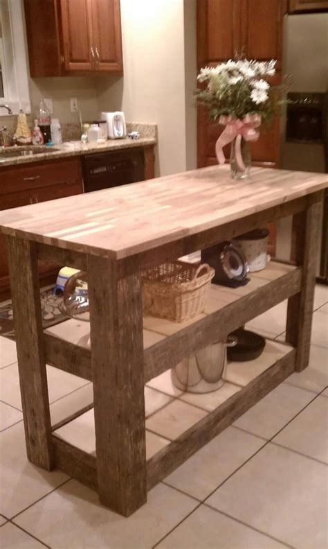 barnwood kitchen island kitchen island made from upcycled barn wood so purrty pinterest