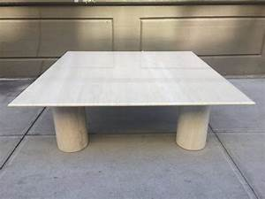 large mario bellini italian marble coffee table for sale With large stone coffee table