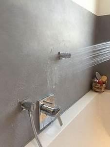 Beton Cire Bad : beton cire badezimmer nassbereich wasserfest fugenlos bad pinterest bathroom bath and ~ Indierocktalk.com Haus und Dekorationen