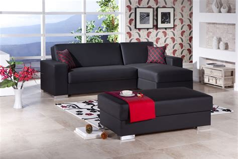 substantial convertible sofa  soft color combination