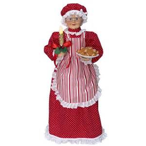 holiday living animatronic freestanding mrs claus indoor christmas decoration lowe s canada