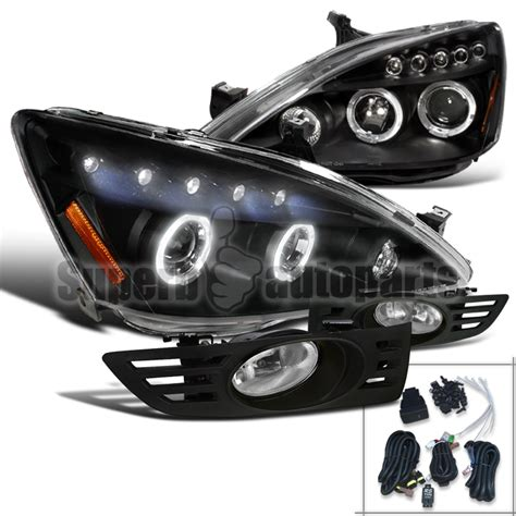 for 2003 2005 honda accord 2dr coupe projector headlights