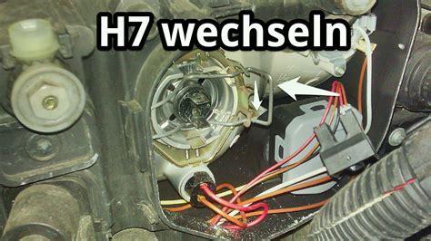 Hauptscheinwerfer H7 Lampe wechseln für Abblendlicht bei