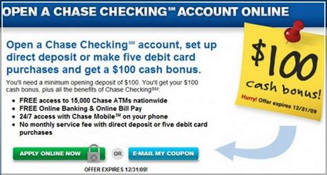 checking account  opening deposit  credit