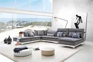 canape tissu horizon base en cuir sur couette et tetieres With home salon canape cuir