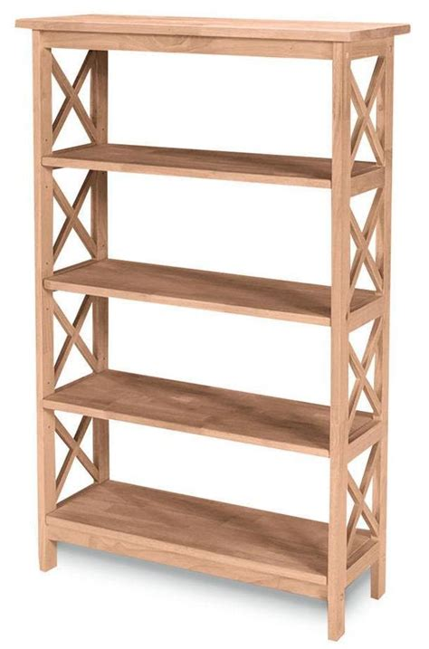 Unfinished Bookcases Free Shipping by X Sided Hardwood Bookcase 48 Quot Free Shipping Sh