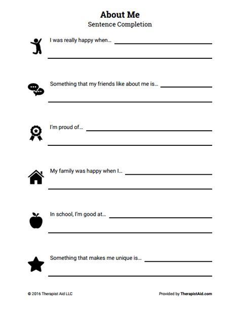 esteem worksheets  activities  teens