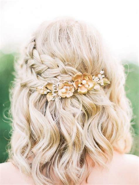 cute bridal braid style for short hair hair makeup