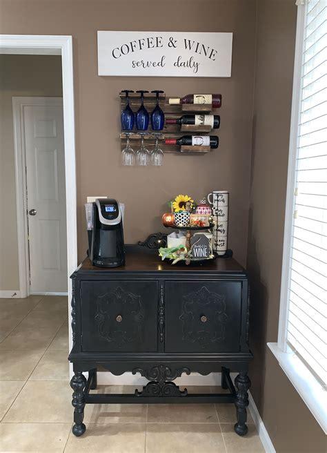 Home decor inspiration 24 stunning corner coffee wine bar design ideas. Coffee Wine bar | Coffee bar home, Coffe and wine bar ...