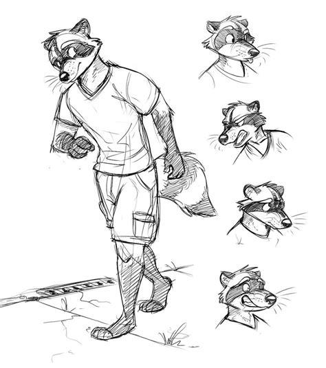 raccoon  character  temiree  deviantart