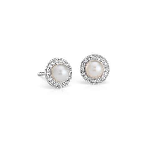 freshwater cultured pearl  white topaz drop earrings