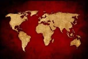 toile carte du monde tableau d 233 coration murale carte du monde vintage sur fond home photo deco