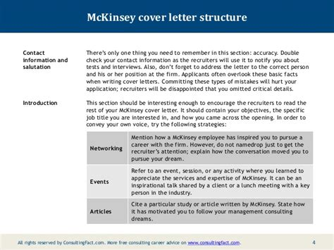 structure of a covering letters mckinsey cover letter sample
