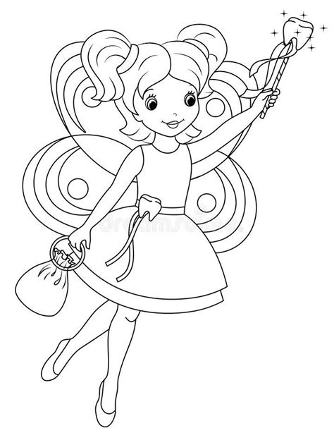 Tooth Fairy Coloring Page Free Printable Coloring Pages