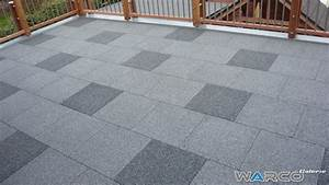 Warco Terrassenplatten Verlegen : carrelage terrasse dalle en caoutchouc warco ~ Markanthonyermac.com Haus und Dekorationen