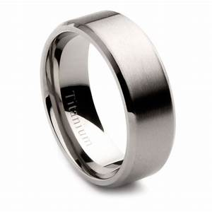 mens titanium brushed center wedding band 8mm ebay With mens brushed wedding rings