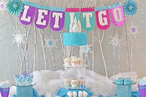 frozen party decor evite