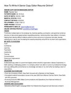 Draft Copy Of Resume by How To Write A Senior Copy Editor Resume Online