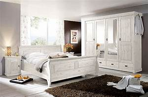 Schlafzimmer Weiss Kiefer Komplett Massivholz Mbel In