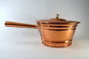 vintage rare extra large unmarked hand crafted  copper handled soup stew pot ebay