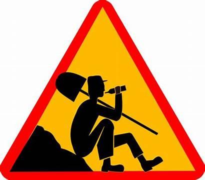 Break Signs Clip Funny Clipart Taking Shovel