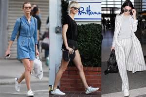 Celebrities Wearing White Sneakers