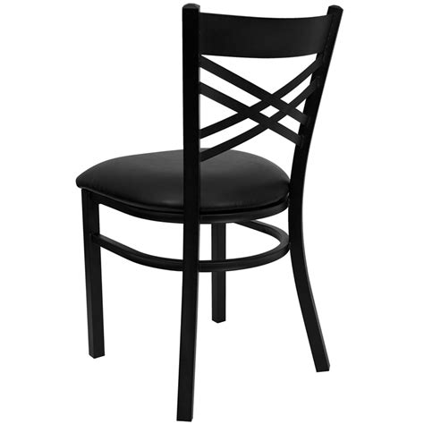 hercules black quot x quot back metal restaurant chair with black
