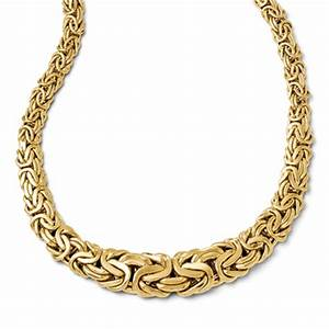 14k Gold Graduated Byzantine Necklace, Made in Italy