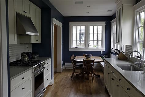 discover kitchen white cabinets blue walls ideas