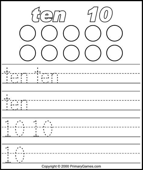 Numbers Activity Pages  Primarygamescom  Free Printable Worksheets