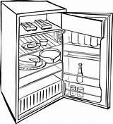 Fridge Refrigerator Coloring Drawing Clipart Sketch Drawings Clip Empty Rocks Printable Getdrawings Paintingvalley Getcolorings Sketches Clker Rating sketch template