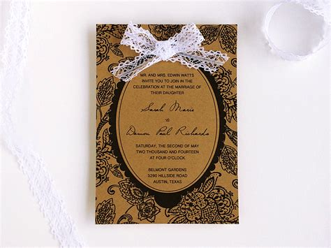 cheap shabby chic wedding invitations 3 diy wedding invitations using an elegant matelasse print