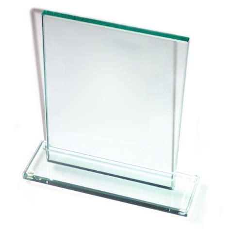 plaque de verre troph 233 e en verre forme rectangle pour comp 233 tition sportive statuette verre