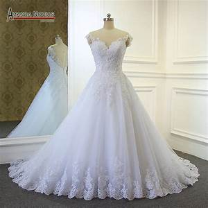 2017 wedding dresses simple but elegant lace appliques With nice wedding dresses