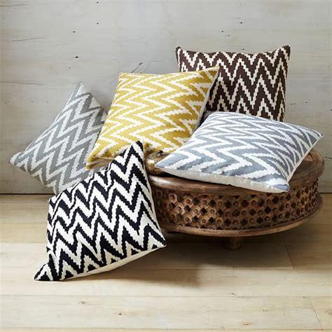 west elm pillows chevron crewel pillow cover iron west elm