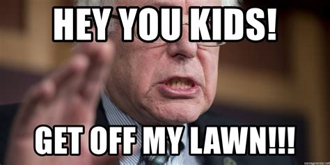 Get Off My Lawn Meme - kid gets caught with marijuana that kid by bernie sanders like success