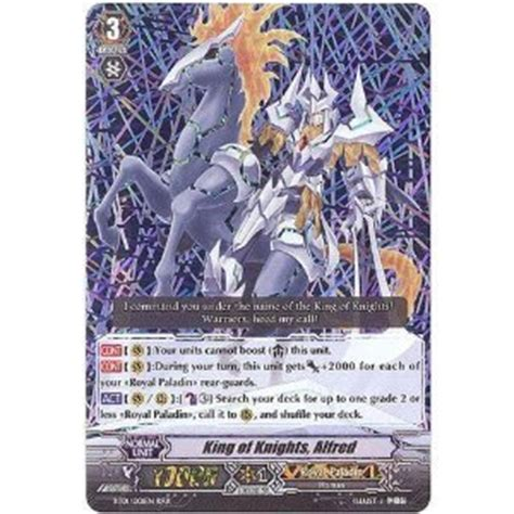 Amazoncom Cardfight!! Vanguard Tcg  King Of Knights, Alfred (bt01001en)  Descent Of The
